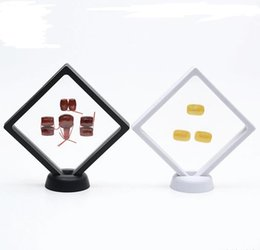 $enCountryForm.capitalKeyWord NZ - PET Membrane Jewelry Ring Pendant Display Stand Holder Bague Packaging Box Protect Jewellery & Stones Floating Presentation Case