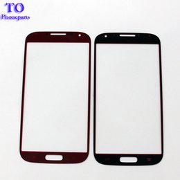 Discount touch screen s6 - 100pcs High Quality Replacement LCD Touch Front Touch Screen Glass Outer Lens For Samsung s3 s4 S5 s6 s7