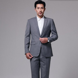 $enCountryForm.capitalKeyWord Australia - New arrival men formal suits gray men wedding suits haute couture business groom party occasions tuxedos suits(jacket+pants)