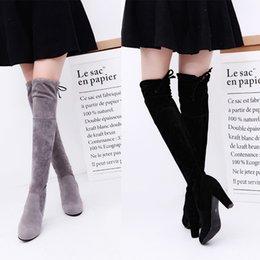 3c19ba721 Novas Mulheres Sobre o Joelho Alta Bota Rendas Até o salto alto Longo Coxa Botas  Sapatos