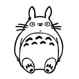 China Hot Sale For Ghibli Totoro Head Decal Cute Funny Car Styling Vinyl Jdm Car Truck Window Sticker Accessories Graphics cheap funny car sale suppliers