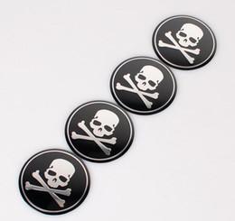 $enCountryForm.capitalKeyWord Canada - High Quality 56.5mm Aluminum alloy Sticker emblem badge Cross Bone Skull Head for Car Wheel centre cover