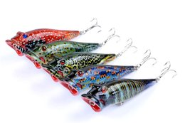 poper lures Canada - 2018 Shallow Diving Popper Crank bait 8cm 12.5g Freshwater Fishing plastic lures bass poper lure