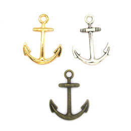 $enCountryForm.capitalKeyWord UK - 300pcs 23*31MM diy jewelry bronze silver gold colors alloy vintage steampunk anchor charms pendant for necklace bracelet CH0173