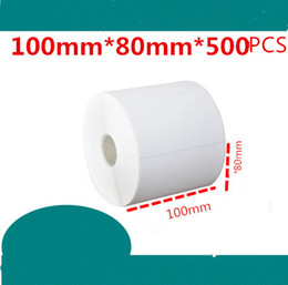 $enCountryForm.capitalKeyWord Canada - 100*80mm 500pcs roll new blank white free shipping stock coated paper barcode self adhesive sticker label