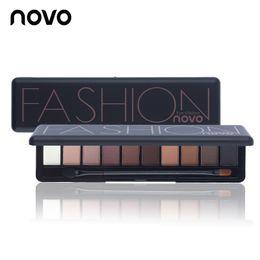 light pink eyeshadow 2019 - Wholesale- Brand New Eye Makeup Palette Natural Fashion Make Up Light 10 Colors Eye Shadow Shimmer Matte Eyeshadow Cosme