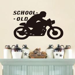 $enCountryForm.capitalKeyWord Canada - Old School Cafe Racer Black Vinyl Mural Sticker for Kids Room Home Bedroom Decor Adesivo Art Wallpape
