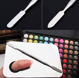 cosmetic spatulas wholesale Canada - New Arrival Beauty Stainless Makeup Nail Eye Shadow Mixing Palette Spatula Cosmetic Tool