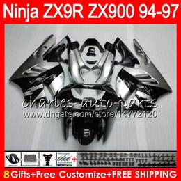KawasaKi ninja zx9r 1997 online shopping - 8Gifts Colors For KAWASAKI NINJA ZX900 ZX9R CC HM12 ZX R ZX900C ZX R ZX R Fairing Silvery black