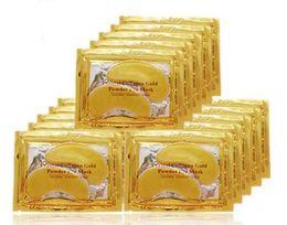 Nuevo Colágeno Cristal Mascarillas para los ojos Anti-hinchazón hidratante Máscaras para los ojos Máscaras anti-envejecimiento Colágeno polvo de oro máscara para los ojos
