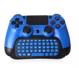 Venta al por mayor de TP4-022 Mini 2.4G USB inalámbrico Bluetooth Chatpad Teclado de mensajes para Sony PS4 Slim PS4 Pro Controller