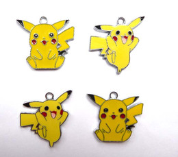 China Mixed 100 Pcs Classic Anime Cartoon Yellow Pikachu Metal Charm Pendants Jewelry Making Toy Choose Design supplier mixed pendants suppliers