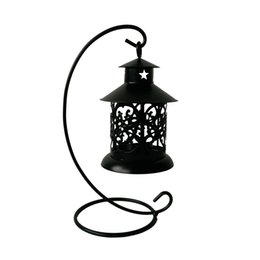 $enCountryForm.capitalKeyWord UK - classic Metal cheap souvenir small candle holder house Tea Light Holder Wedding decoration Iron lantern Black color Candle Holder