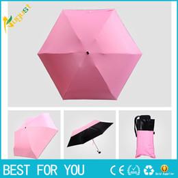 Discount plastic light shades - New hot Light mini five-fold sunshade sun umbrella-anti-uv shade umbrella black plastic pocket folding clear umbrella pe