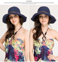 Green Straw Hat NZ - 2017 New fashion women line decoration costume hat ms sun hat summer beach soft straw Bohemia folding manual hat 20 colors