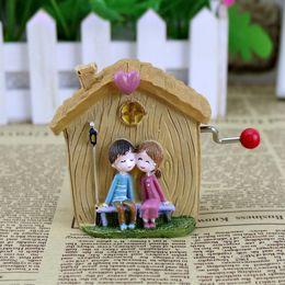 $enCountryForm.capitalKeyWord NZ - Fashion hand music box Small house resin handicraft Creative household adornment furnishing articles Students present