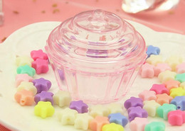 treats cupcakes UK - Clear Cake Stand Cupcake Favor Candy Box Wedding Birthday Container Plastic Party Treat Food Sweets Boxes Favours Christmas Gift Wrap