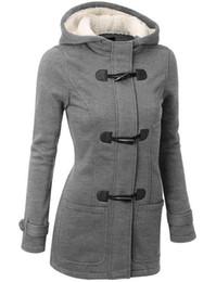 $enCountryForm.capitalKeyWord UK - New product Women Trench Coat 2017 Spring Autumn Women's Overcoat Female Long Hooded Coat Zipper Horn Button Outwear Wholesale sales