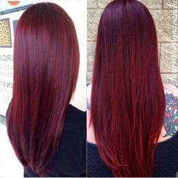 Burgundy wine human hair weave online shopping - Brazilian Burgundy Human Hair Bundles Colored Brazilian Wine Red Virgin Hair Weave Brazilian Human Hair Extensions