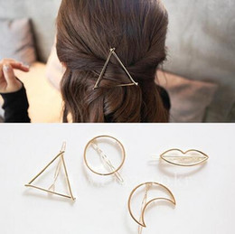 $enCountryForm.capitalKeyWord NZ - Hot sale Fashion hair ornaments five-pointed star 8 word triangle moon lips hairpin hairpin frog folder FJ183 mix order 60 pieces a lot