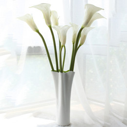 "$enCountryForm.capitalKeyWord NZ - Home fashion 24.8"" large calla lily artificial flowers overall floral for living room table plants wedding home decoration DHL free shipping"