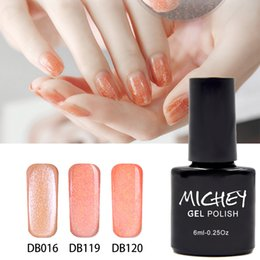 Barato Cola Pregos China-Atacado- China Manufacturer Hot Sale Novo Marca MICHEY DIY Magic Gel Polonês Laranja Glitter UV Gel Nail Glue Necessita Primer Gel Top Coat