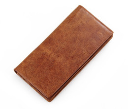 $enCountryForm.capitalKeyWord Canada - Hot Brand Genuine Leather Wallet Mens Wallets Long Wallet Men Purses for Card Holder Top Quality Clutch Retro Wallet Bags Brown Color Purse