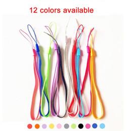 $enCountryForm.capitalKeyWord Canada - Universal Colorful Necklace Lanyard Hand Straps Nylon Short Hang Wrist Ropes for Ipad Cell Phone MP3 MP4 Camera ID Card Badge