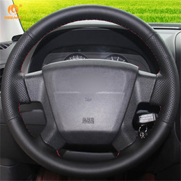 $enCountryForm.capitalKeyWord NZ - Mewant Black Artificial Leather Car Steering Wheel Cover for Jeep Compass 2006-2010 Old Patriot 2007-2010