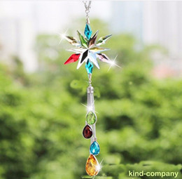 $enCountryForm.capitalKeyWord NZ - 1pcs colorful snowflake crystal Car auto truck power decoration vip Charms Chain for Rearview Mirror 30cm