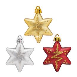 $enCountryForm.capitalKeyWord Australia - Wholesale- 5 Pcs Box Glitter Star Christmas Tree Topper Decoration Christmas 3 Colors Choose