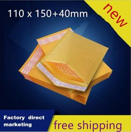 $enCountryForm.capitalKeyWord Canada - 110*150+40mm Packaging Shipping Bubble Mailers Padded Envelopes Bags Golden Kraft Bubble Mailing Packing Bags 200pcs lot