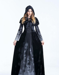 Vêtements De Noël Noël Pas Cher-Halloween Black Devil Women Costumes Cosplay Apparel Christmas Packed Witch Wear Vampire Dresser Party Horrible Costumes féminins Role Play