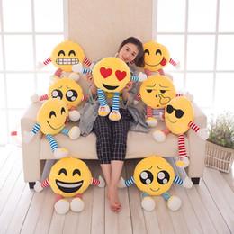 Cartoon Foam Canada - Best Gift Funny Cartoon Emoticons Emojis Almohadones Face Emoji Cartoon Pillows Sofa Cushions Children Gift Plush Toy