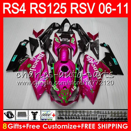 ApriliA rs 125 fAirings online shopping - Body For Aprilia RS4 RSV125 RS125 RSV TOP Rose Pink NO35 RS125R RS RS Fairing