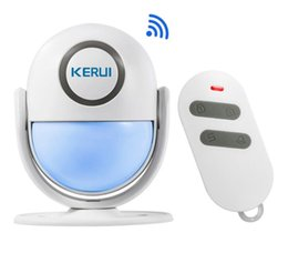WP6 WIFI App Control PIR Motion Detector Alarm Wireless Home Led Flash Light Security Burglar Alarm System from mobile phone personal alarm suppliers