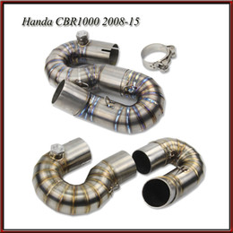 Motorcycle Pipes Australia - Stainless Steel   Titanium mid pipe of Motorcycle exhaust pipe For Honda cbr1000 2008 2009 2010 2011 2012 2013-2015