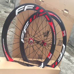 china road bike carbon Australia - Original FFWD F5R 1k glossy finish T1000 carbon wheels 50mm ffwd red bicycle carbon wheels basalt surface wheelset china carbon wheels