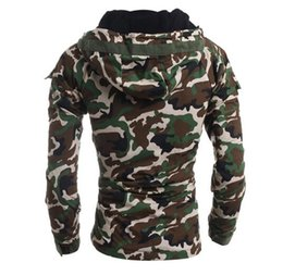 Discount camouflage clothing - 2016 Winter camouflage cotton jackets Men army air force outerwear coats slim men's hoodies clothes bomber jacket s