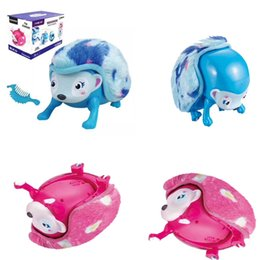 Rolling Pets Toys Canada - Interactive Pet Hedgehog Light-up Eyes Wiggy Nose Walk Roll Headstand Curl Up Giggle Toys With Multi-modes Lights Sounds Sensors OOA2934