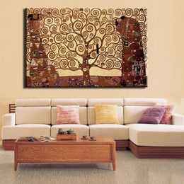 gustav klimt canvas prints NZ - Gustav Klimt Giclee Print Pure Hand Painted Abstract Art oil painting,Home Wall Decor On High Quality Canvas size can be customized
