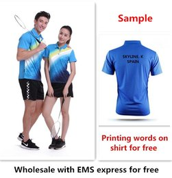 Sports Texts Canada - Wholesale EMS for free, Text printing for free, new badminton shirt clothes table tennis T sport shirt clothes 1013