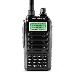 Wholesale- Dual band 2 way radio dual standby dual display QUANSHENG TG-UV2 with FCC CE certification Walkie Talkie