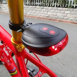 Tail Light Parts NZ - Laser Beam Led Bicycle Bike Tail Light Waterproof Rear Light Bike Safety Warning Rear Lamp Reflector Bicycle Parts Accessories