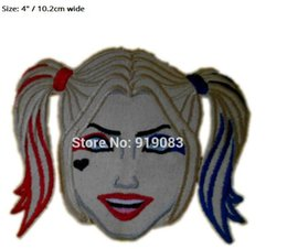 Joker patches online shopping - 4 quot Batman Suicide Squad Joker Harley Quinn patch Iron On Badge TV Movie Series cosplay Embroideried Logo Badge Halloween Costume party favor