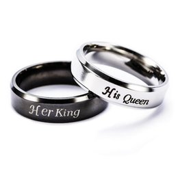 King And Queen Couple Rings Stainless Steel Crown Rings For Couples Lovers Forever Love Promise Rings For Men Women