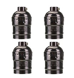 $enCountryForm.capitalKeyWord UK - E27 Socket Screw Bulbs Metal Shell Medium Base Edison Retro Pendant Lamp Holder Without Switch and Cord 110-220V