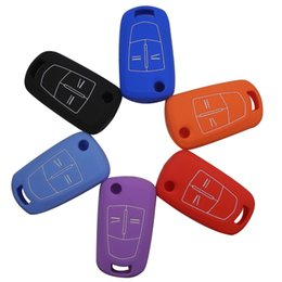 Wholesale Remote Buttons Silicone Flip Folding Car Key Shell Key Cover Case Fob Case for Vauxhall Opel Corsa Astra Vectra Signum