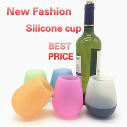 Art fuse online shopping - Silicone Mugs oz Wine Glass Unbreakable clear Rubber Barbecue camping portable red wine cup COLORS Free DHL
