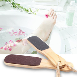 $enCountryForm.capitalKeyWord Canada - Double-sided Foot File for Feet Care Dead Skin Callus Remover Wood Pedicure Tools